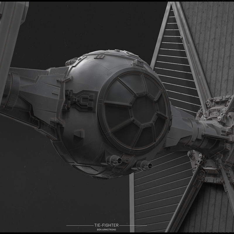 TIE-Fighter High Poly