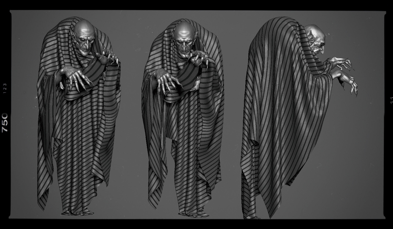 Nosferatu speed sculpt done in 3 Hours  WIP