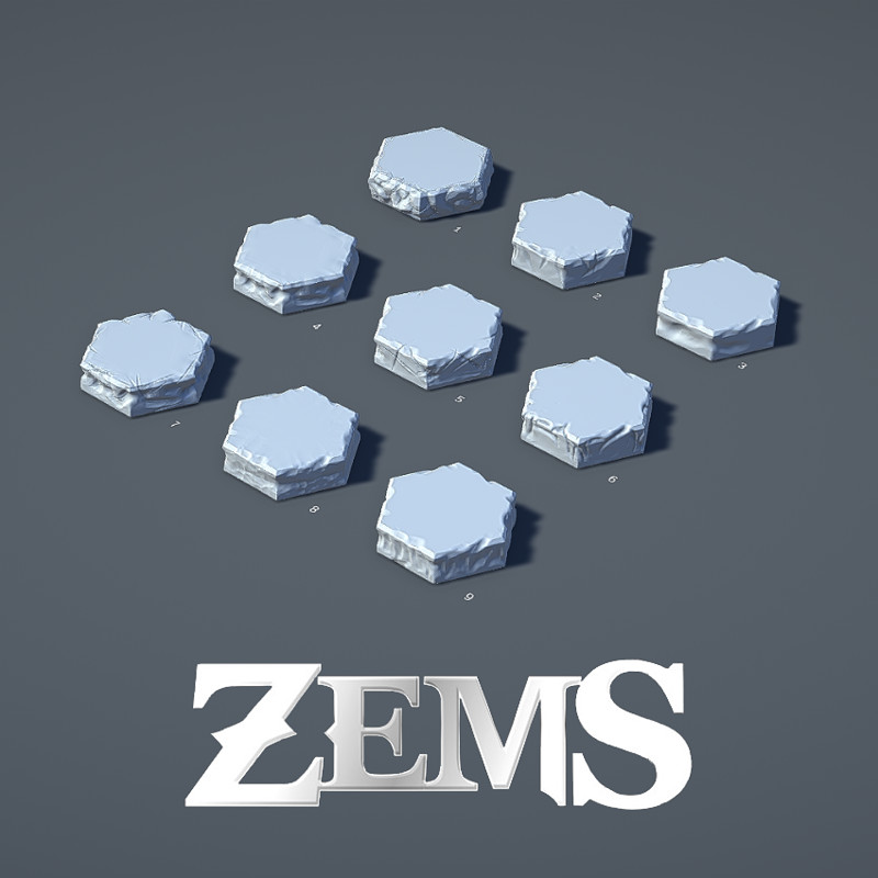 Zems - Hex Tile Details