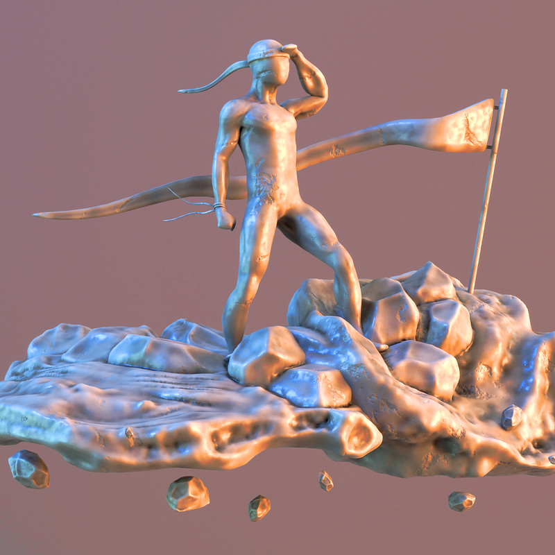 Sculpt January 2018 - Day 4: Desert