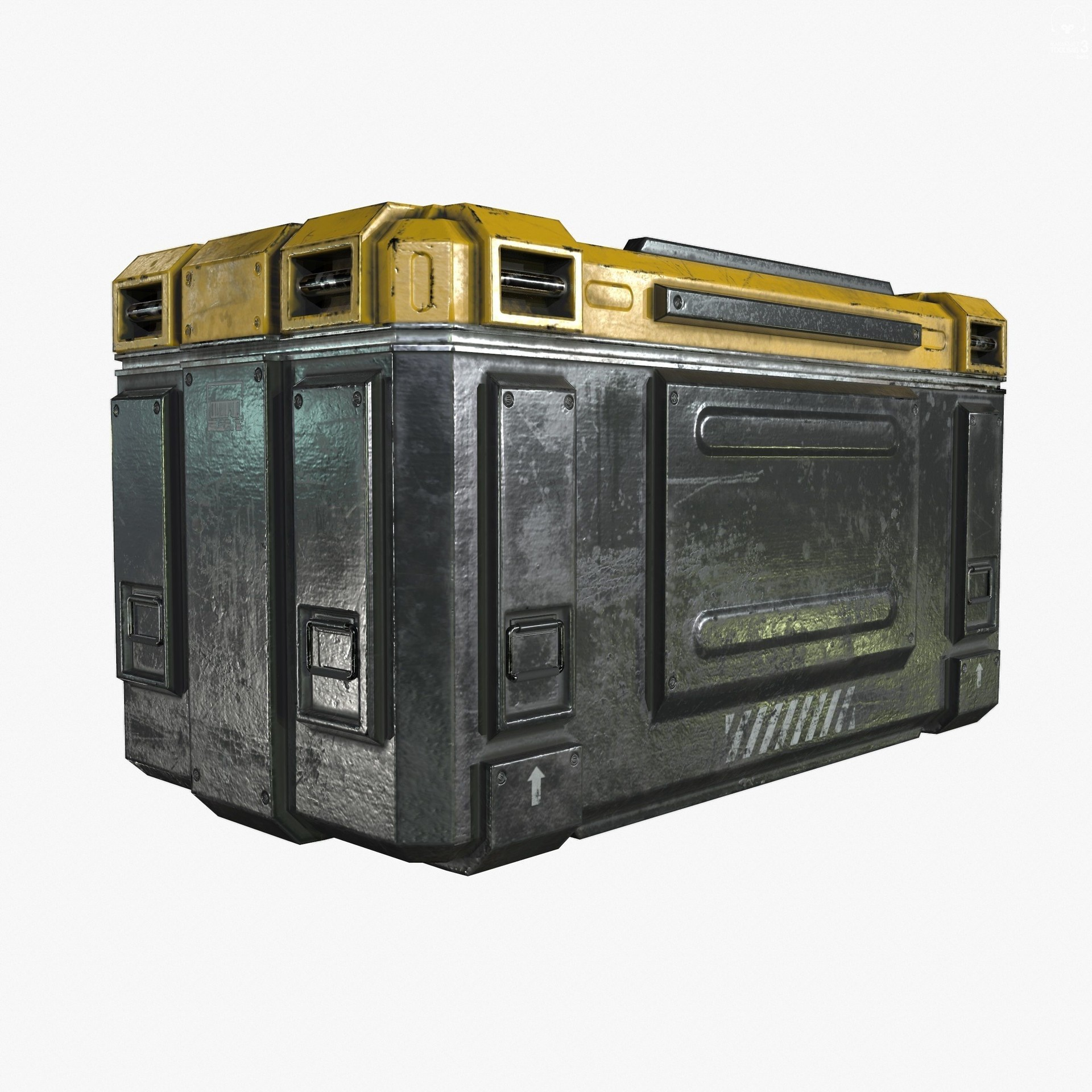 kamil ali 3d sci fi industrial crate game ready pbr textures 3d model low poly 1