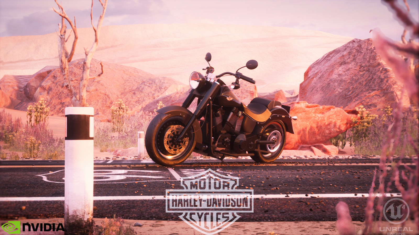 Unreal Engine - Route 66 Harley