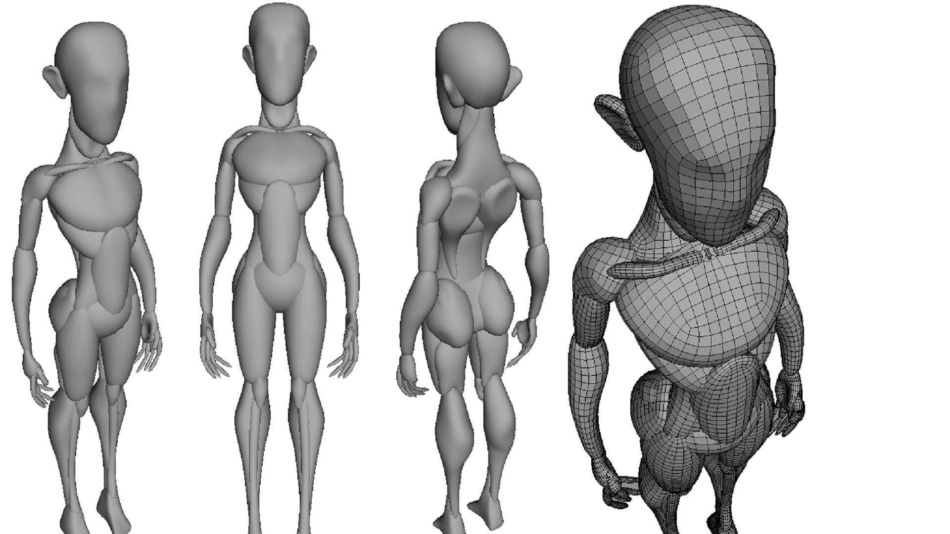 Artstation Anatomy Mannequin Mrk Srs