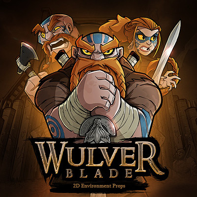 Wulverblade: 2D environment props & weapons