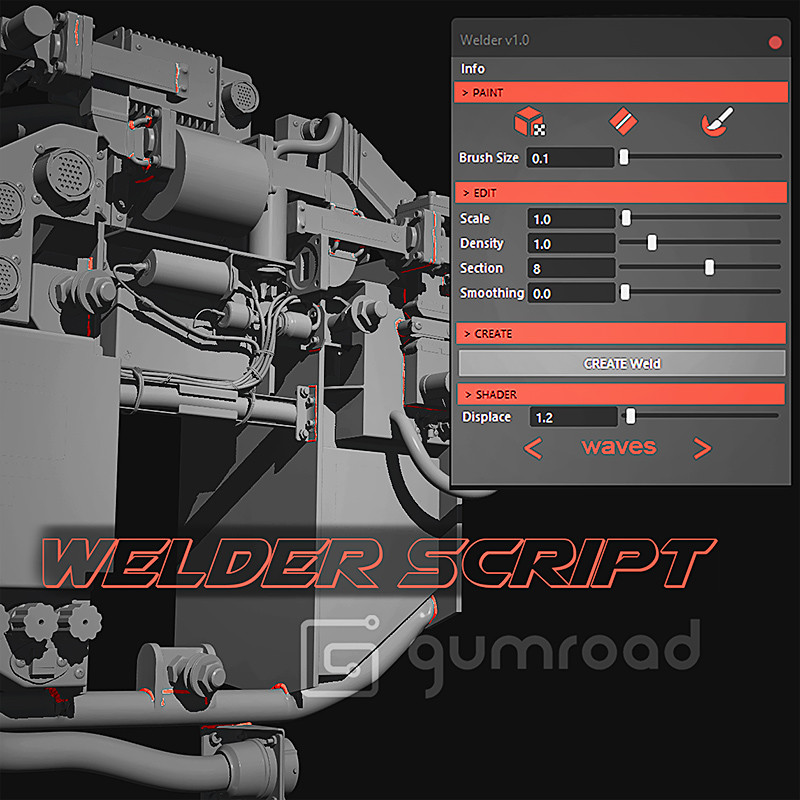 WELDER Script for Maya - Gumroad