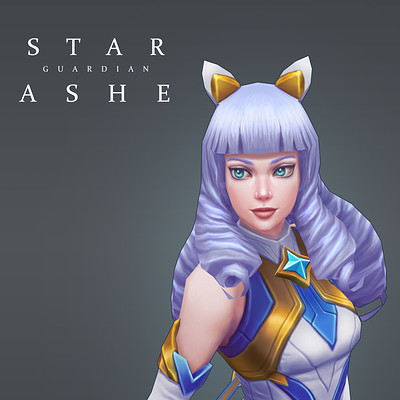 Star Guardian Ashe - Polycount/Riot Creative Contest 2017