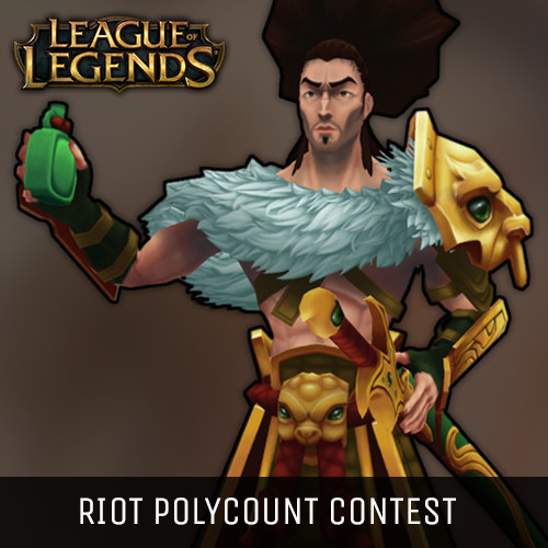 Warring Kingdoms Yasuo - Riot Polycount Contest