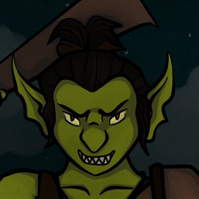 Jessica olney female goblin with background