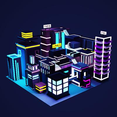 Sci-Fi Neon City