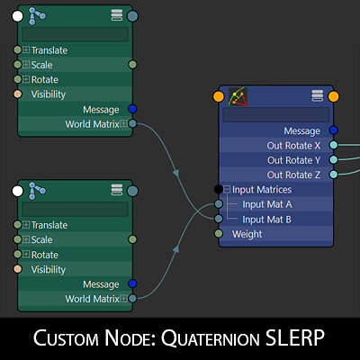 Quaternion Slerp node