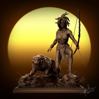Fabien cazenabe fabien cazenabe black panter sculpt anatomy art cazenabe fabien 01