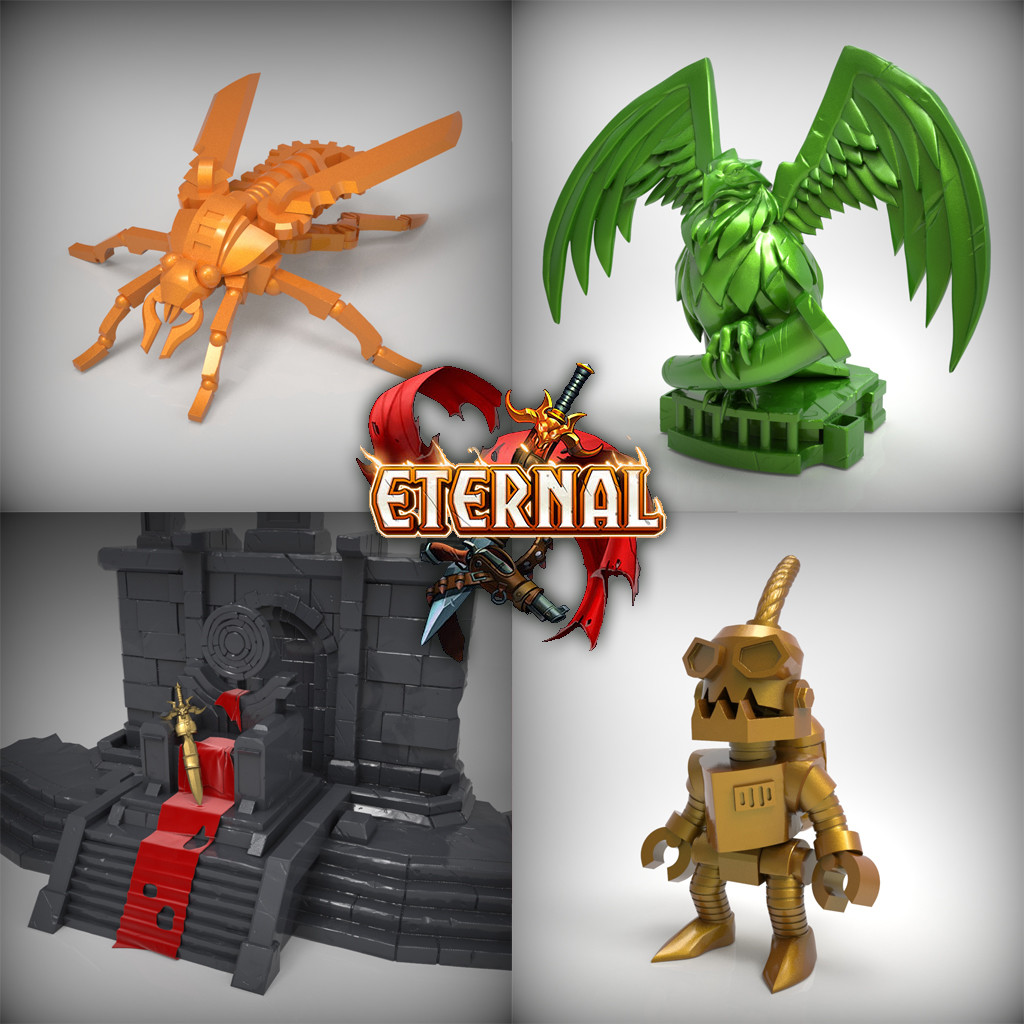 Eternal Card Game Totems (Zbrush sculpts)