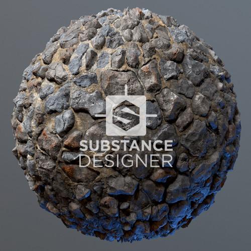Stone Wall - Substance Designer/Painter