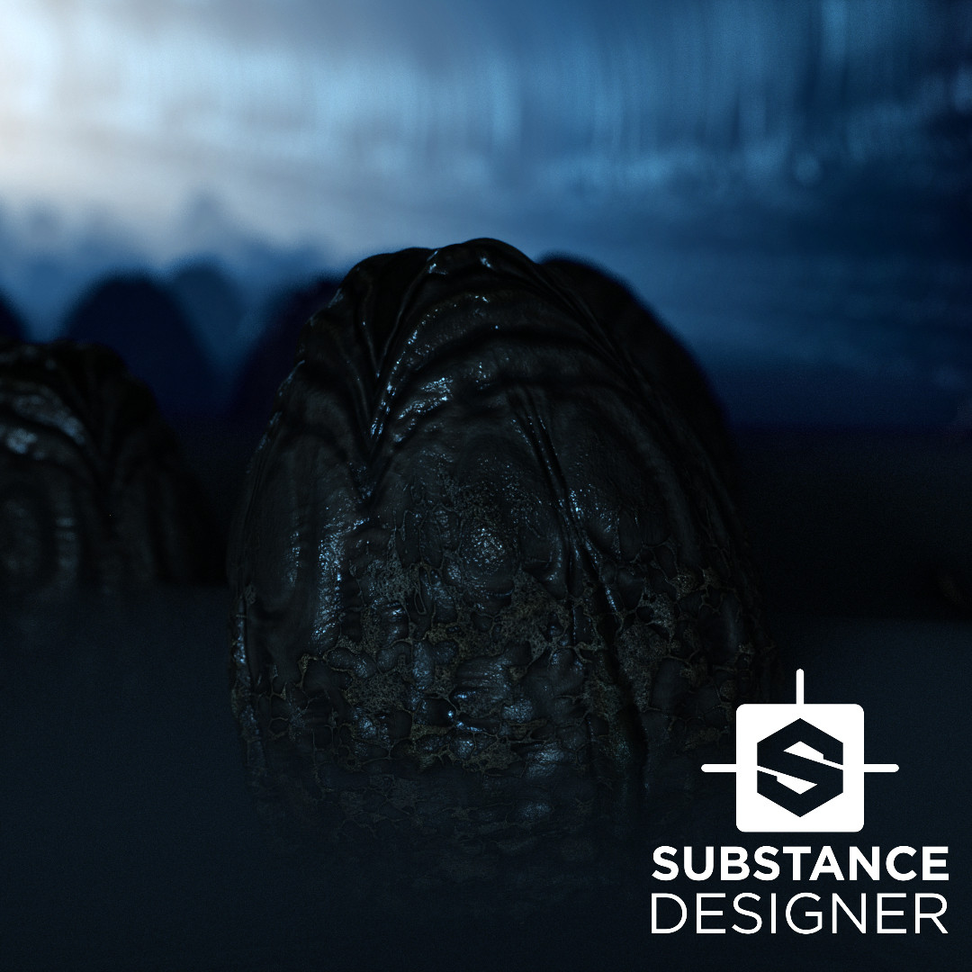 Alien Egg - Substance - PBR Material