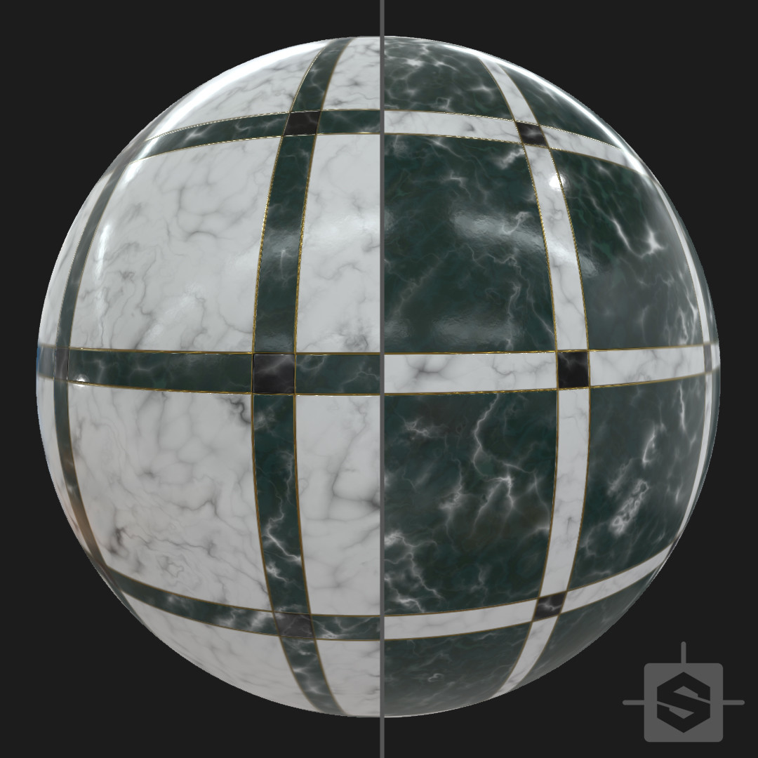 Marble ground - Procedural Material PBR