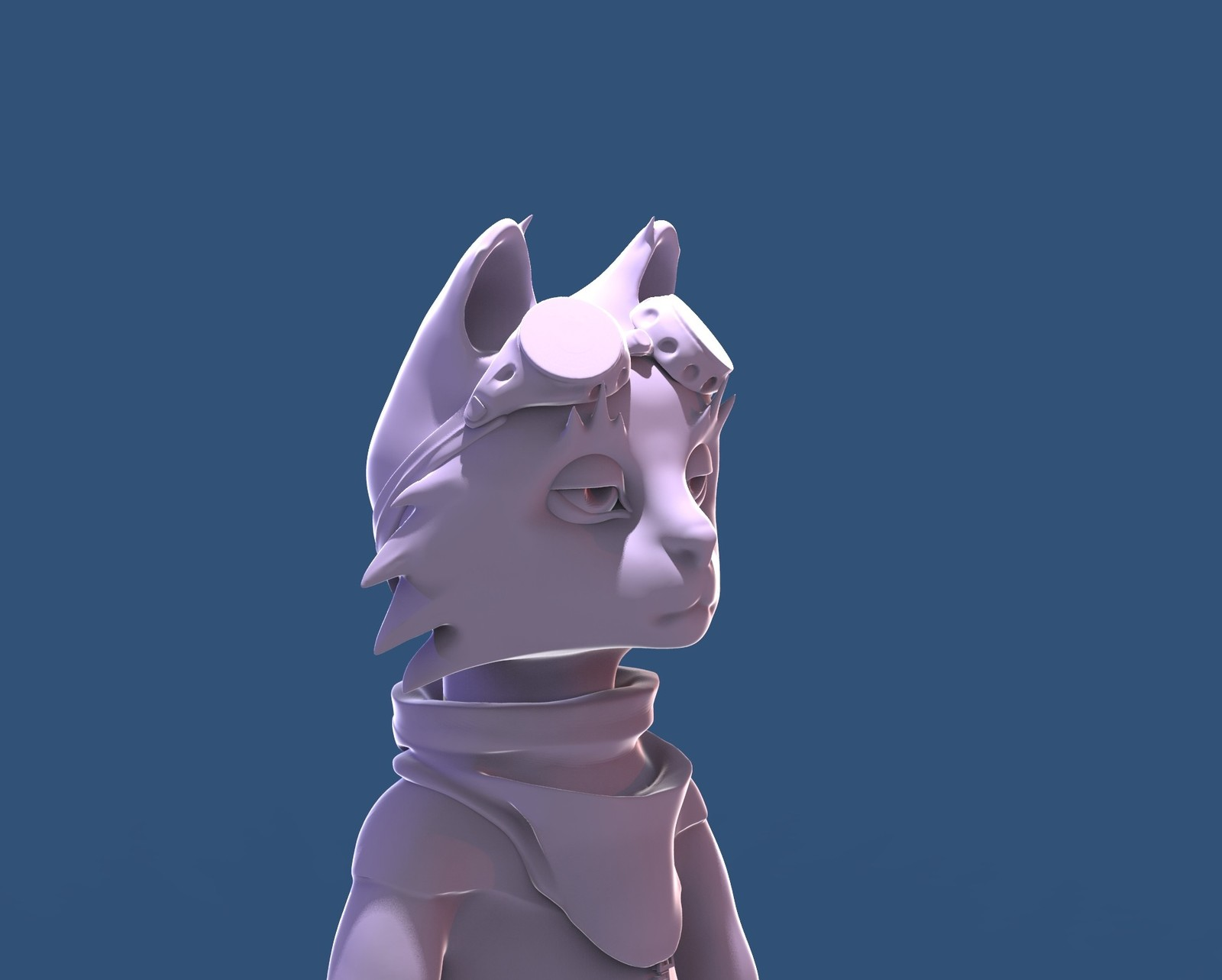 Cat pilot character sculpt