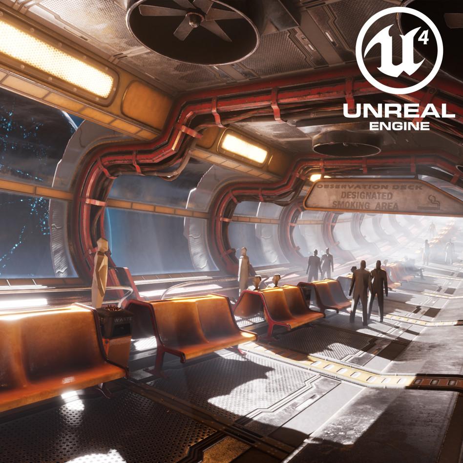 Orbital Waystation - UE4 Sci-Fi Corridor