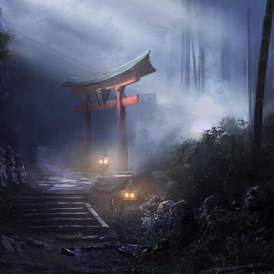 Lucas terra entrada para o templo concept 1 matte painting 12