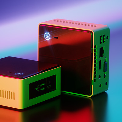 Intel NUC+lear Product Shot Render