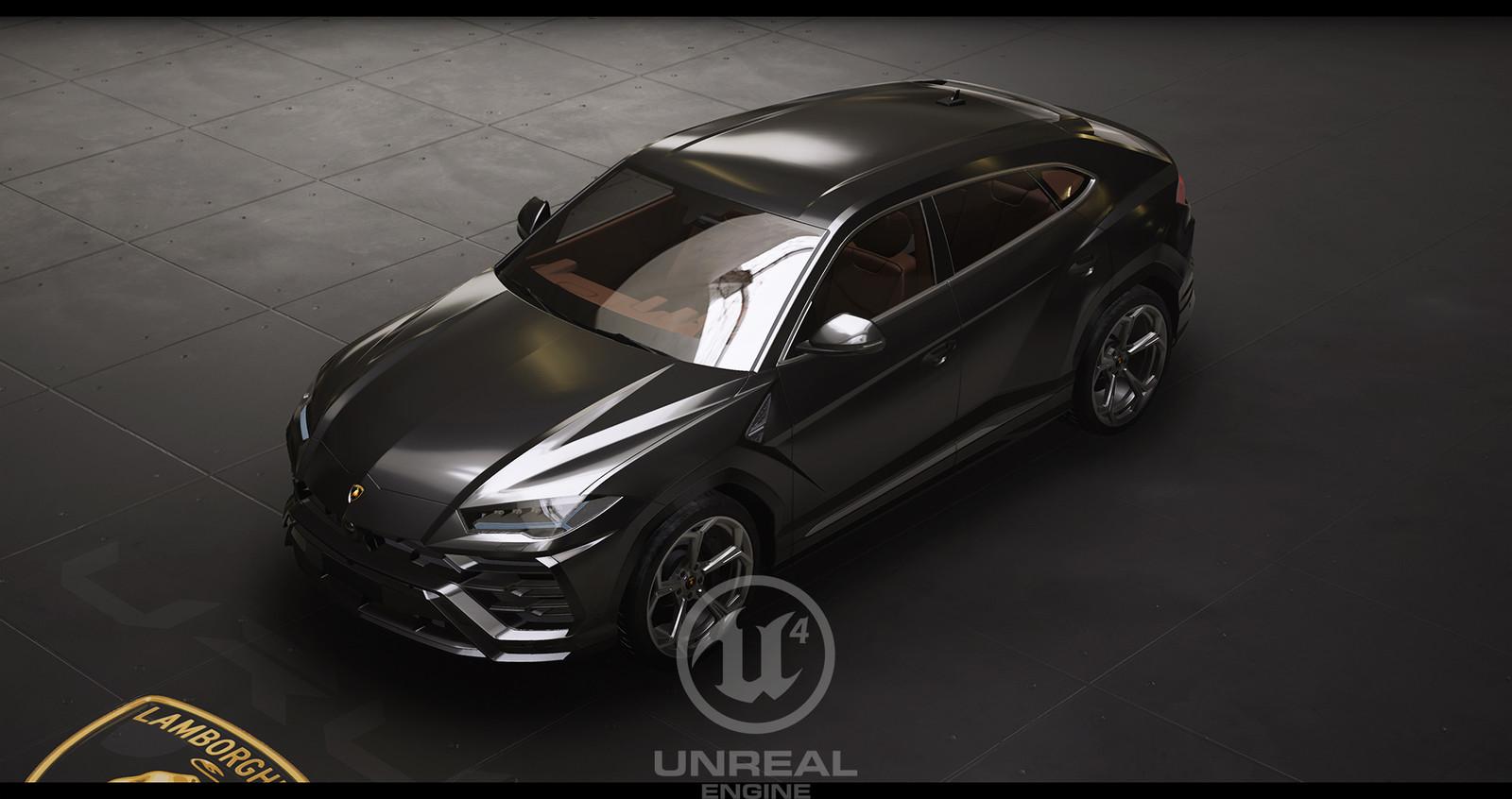 UE4 Automotive Rendering - Lamborghini Urus Configurator