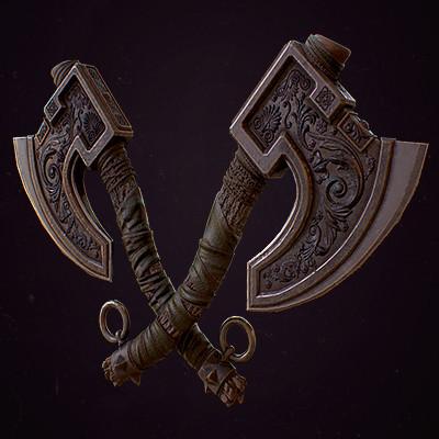 Dual Viking Axe