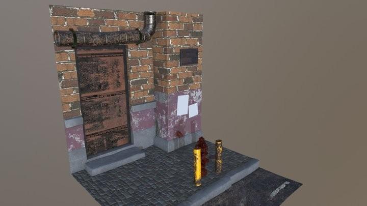Hydrant scene texturing project