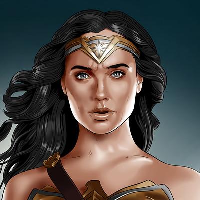 Vassilis dimitros justice league wonder woman