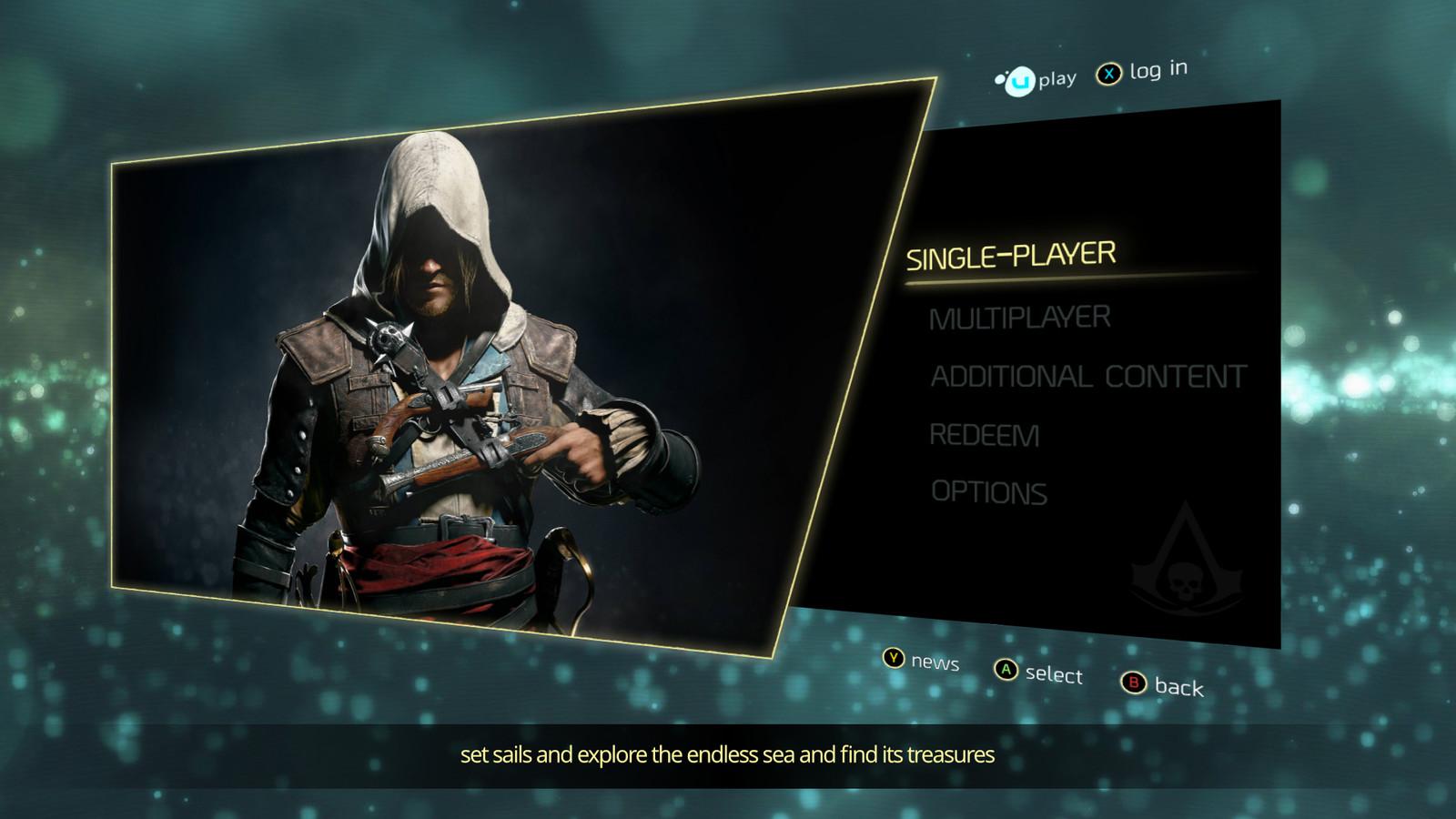[FAN ART] Assassin's Creed Black Flag - Menu Design Concept
