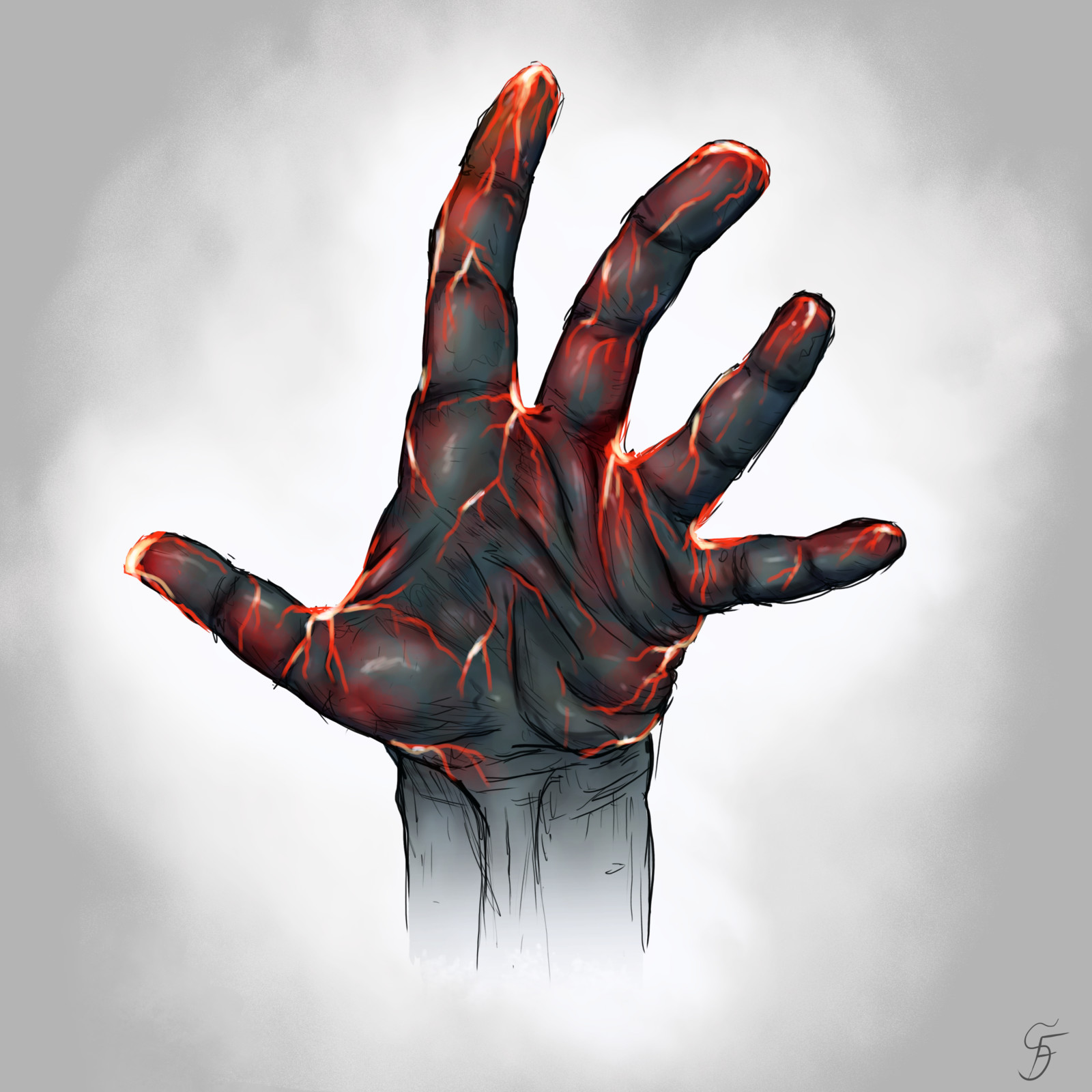 Elemental Hands Nr. 1 - Lava
