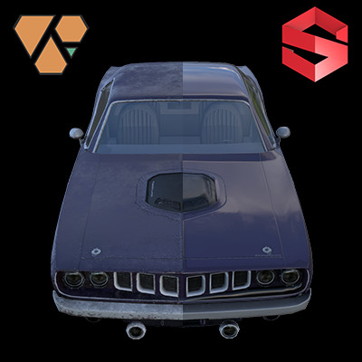 Substance Designer Study: Cuda and Chevelle