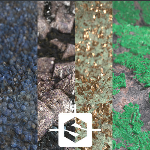 Procedural materials - Ore for mining