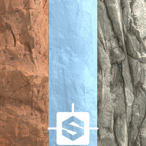 Procedural materials - Mountains side