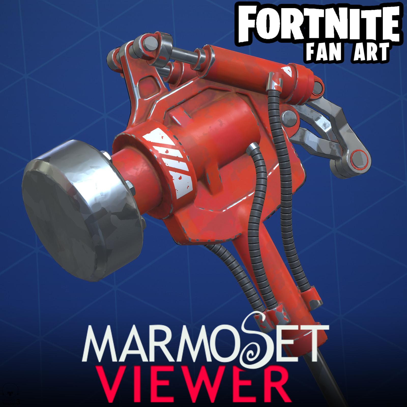 Fortnite Fan Art - Hydraulic Hammer