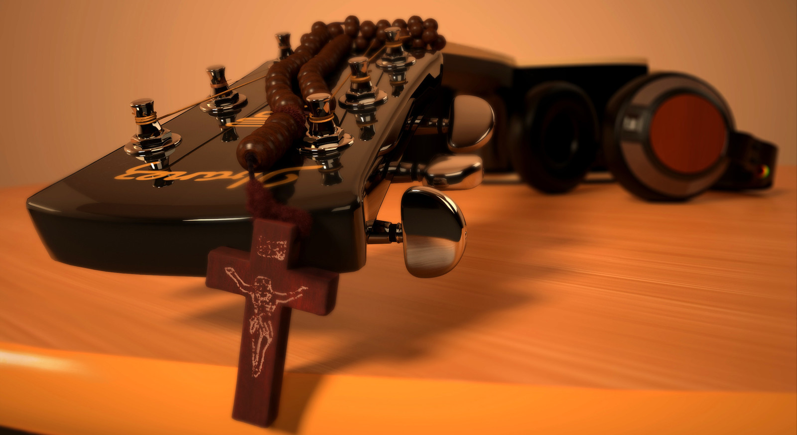 Guitar & The Crucifix