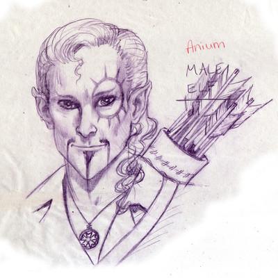 George almond anium elf with quiver