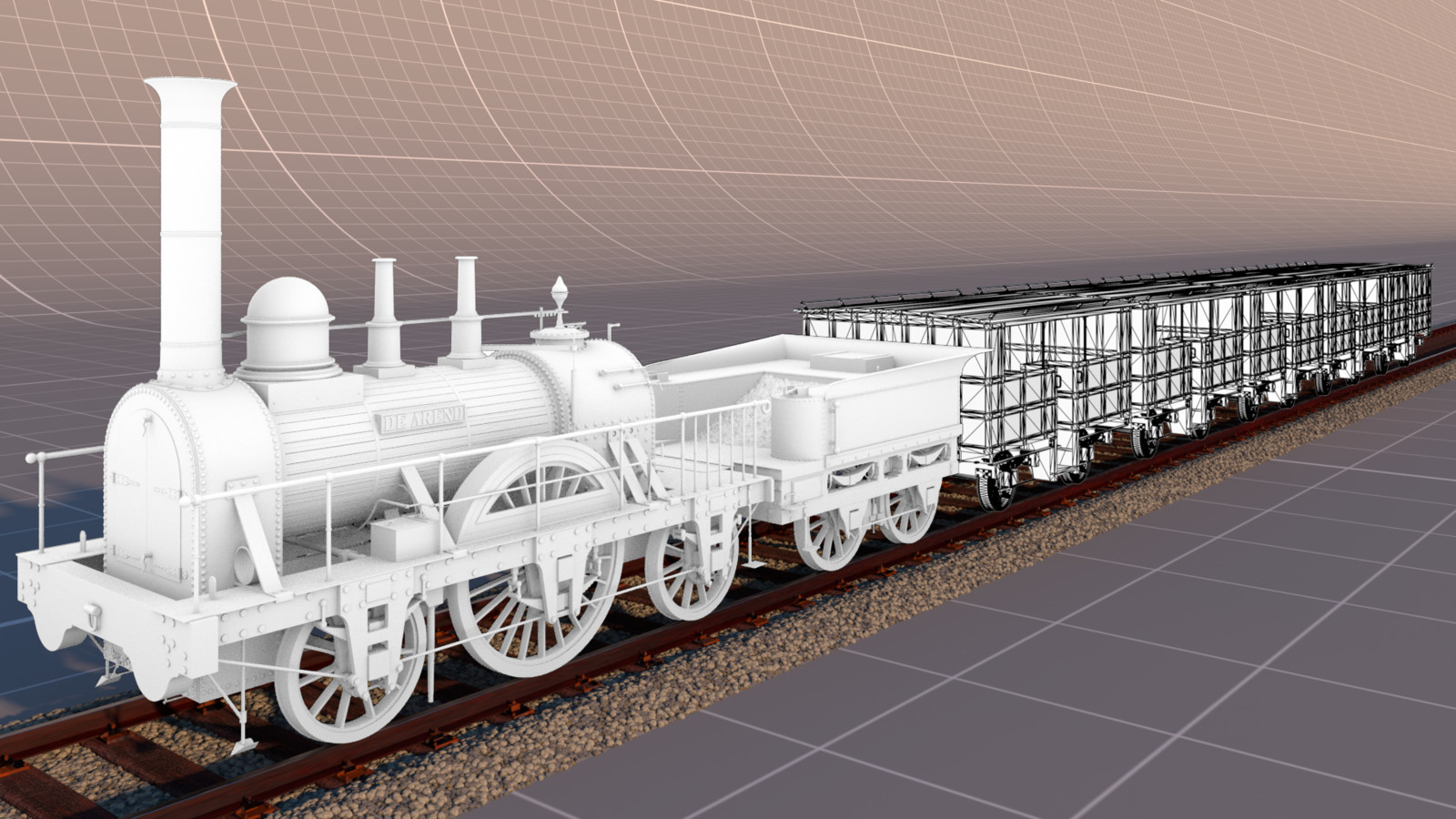 (WIP) De Arend - First train in the Netherlands (1839)