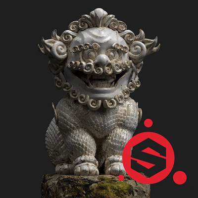 chinese lion guardian WIP