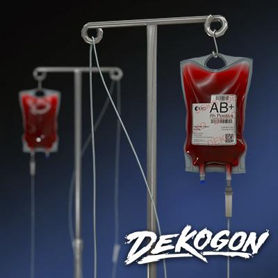 Dekogon - IV Pole / Drip | Modern Hospital