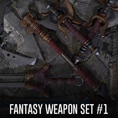 Fantasy weapon set #1