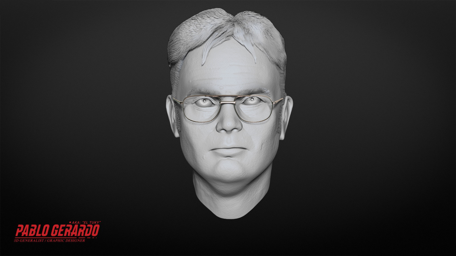 Dwight Schrute Head Sculpt