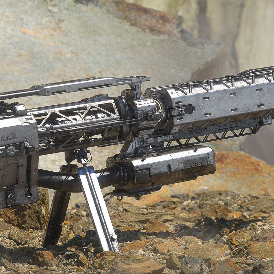EMP Sniper Rifle - Desert Renders