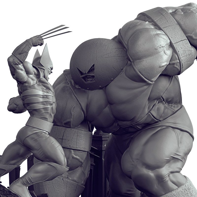 Wolverine vs. Juggernaut - Battle Diorama 1/6 - Iron Studios