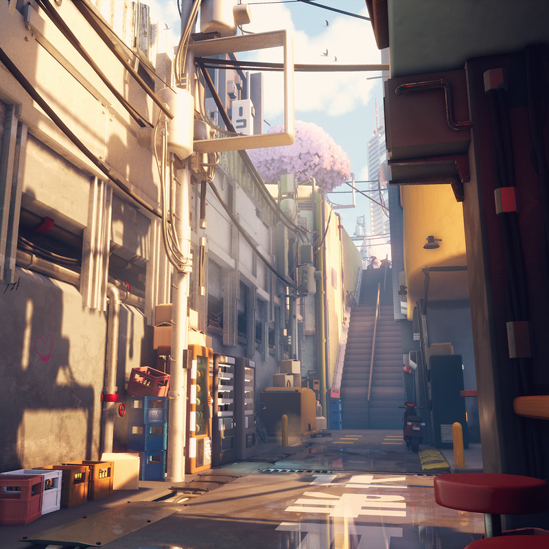 Memory Lane - UE4 Environment - Stylized Tokyo street