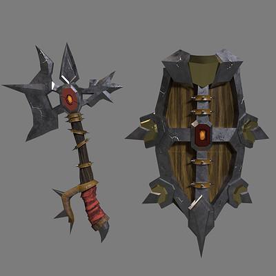 Castle black studios axe sheild instastory0