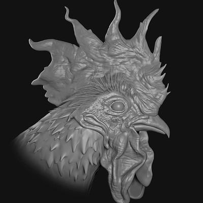 chicken head sculpt