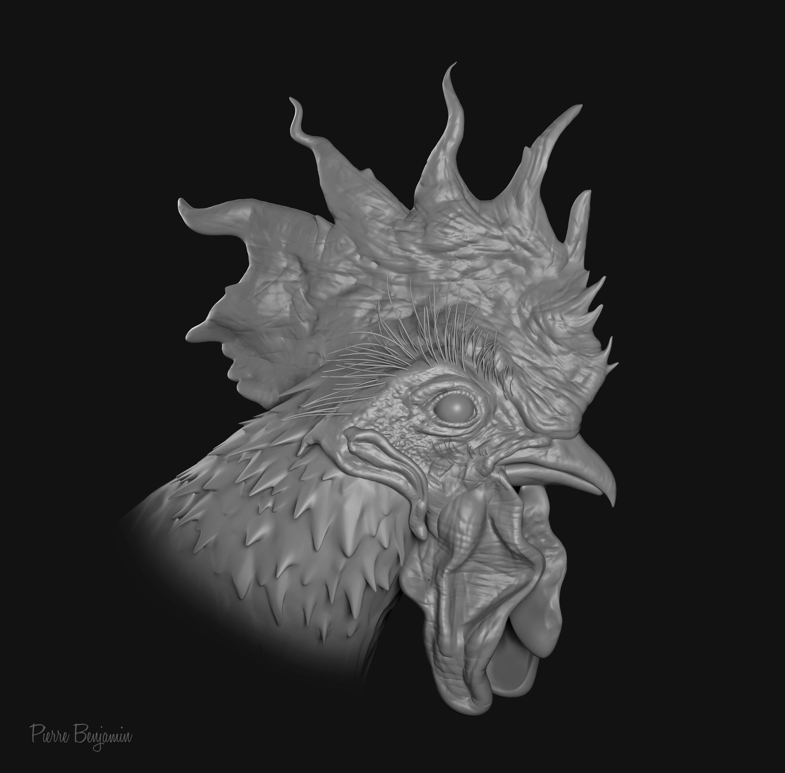 chicken head sculpt