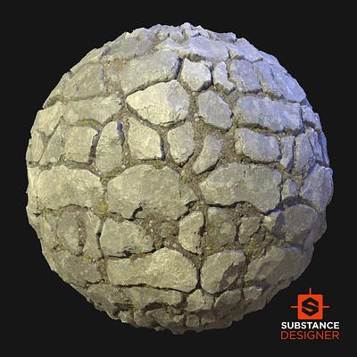 Round Stone Wall