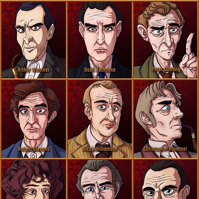Jonathan leiter the faces of sherlock holmes series comp artstation ver 01b