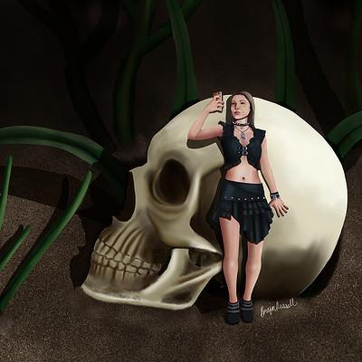 Brinjen russell fairy skull selfie web
