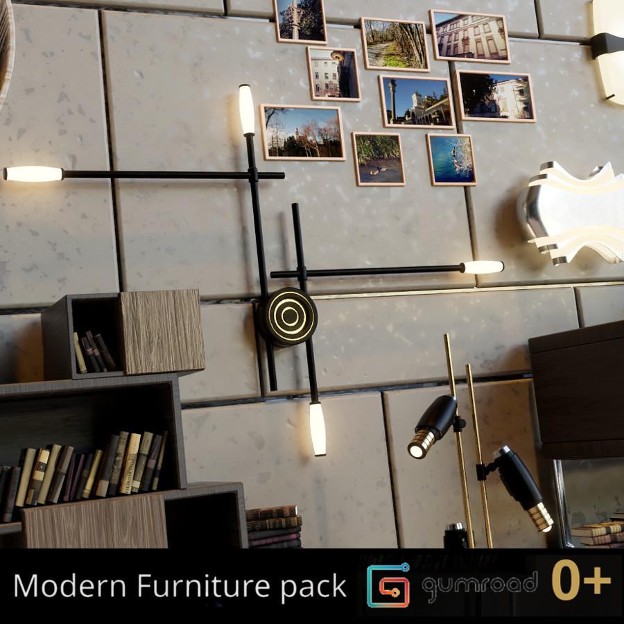 Artstation modern furniture pack for blender 2 79 davide tirindelli